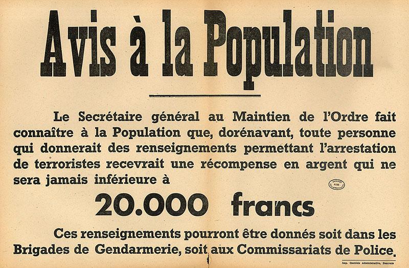 Archives départementales de l'Oise - régime de Vichy