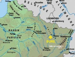 Le village de Bure (Meuse) est à 80km à l'ouest de Nancy