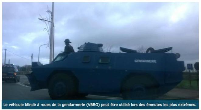 Blindé de la gendarmerie