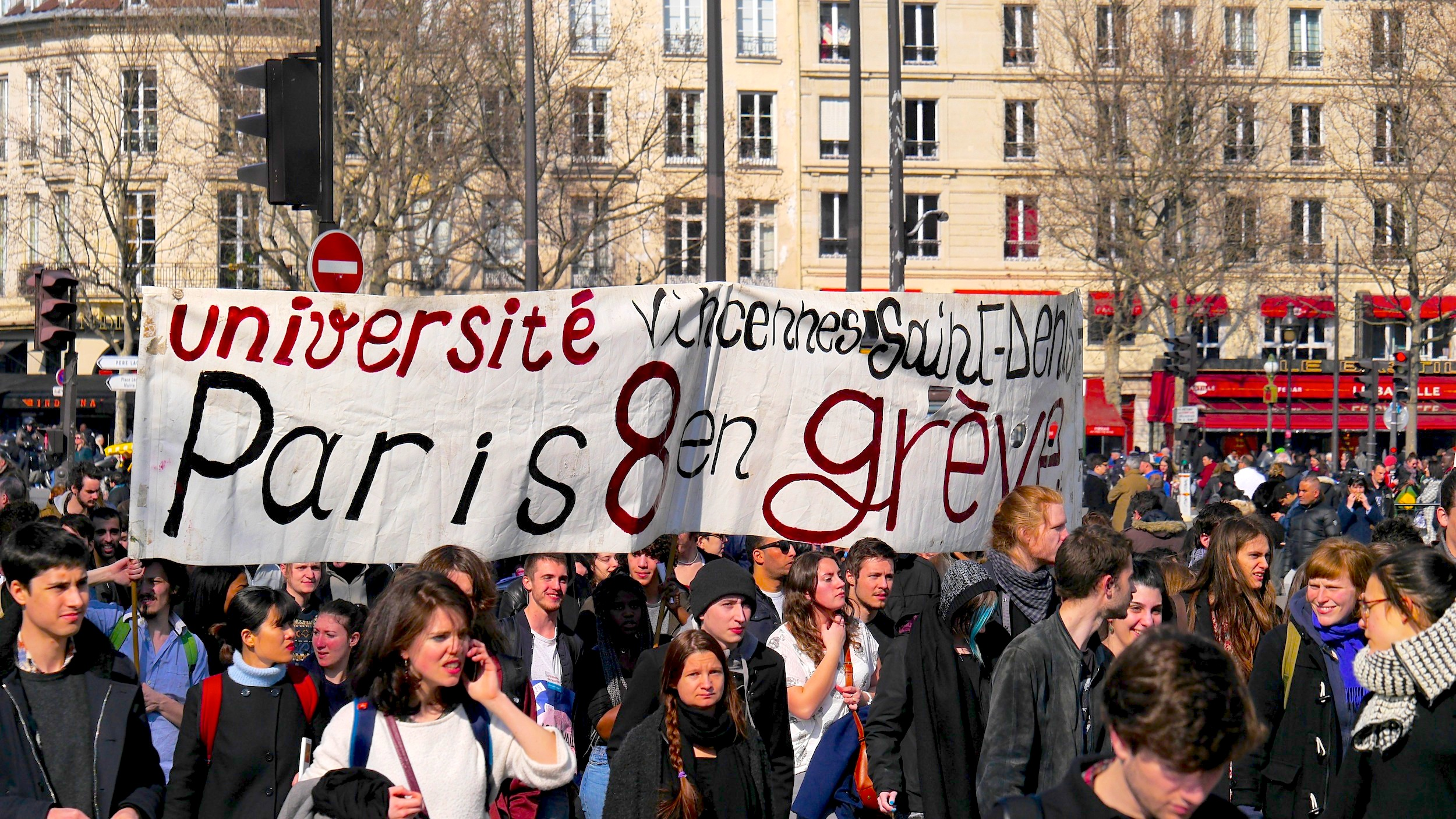 «Université Vincennes-Saint-Denis Paris 8 en grève»