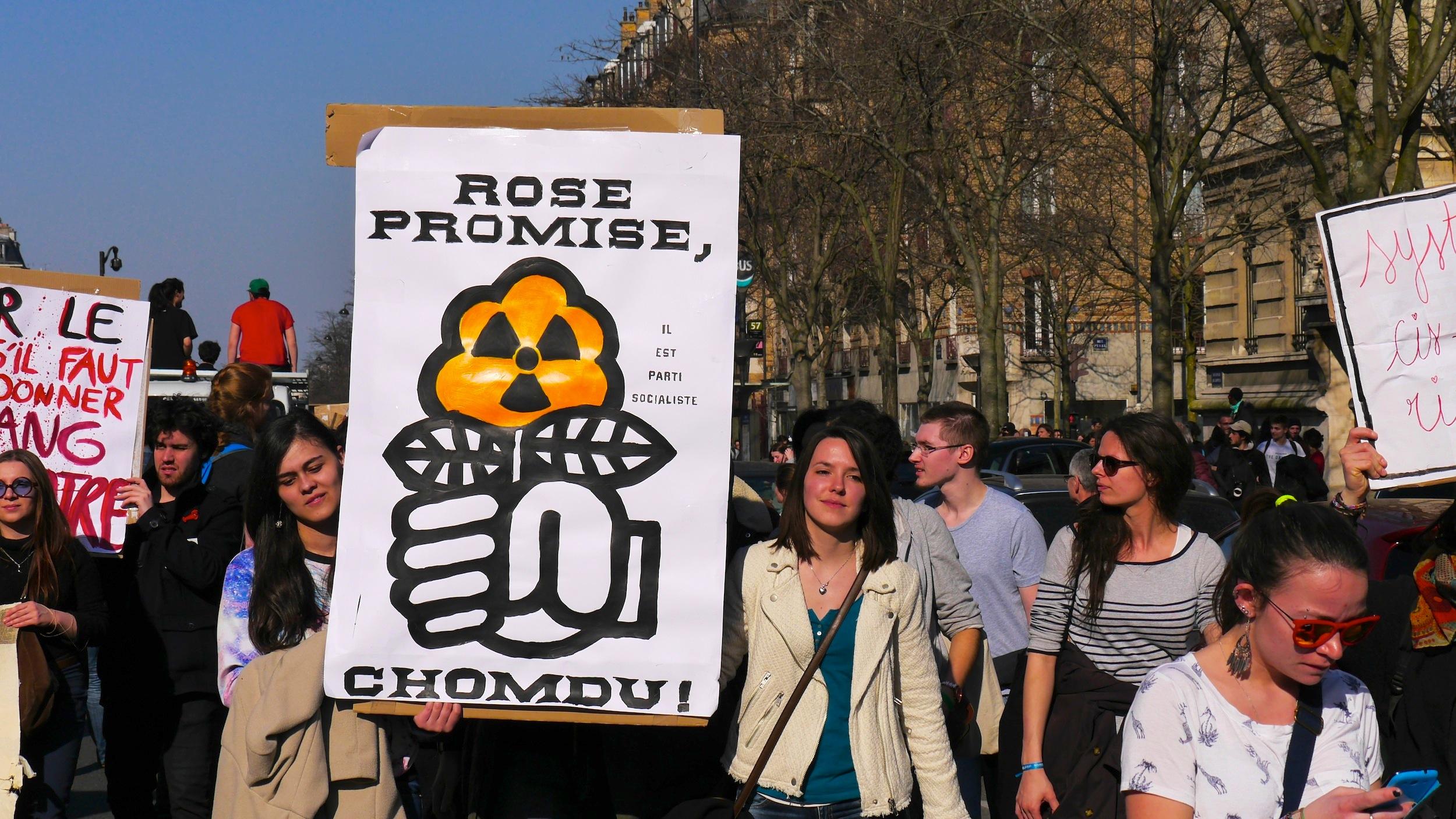 «Rose promise, chomdu. Il est parti socialiste»