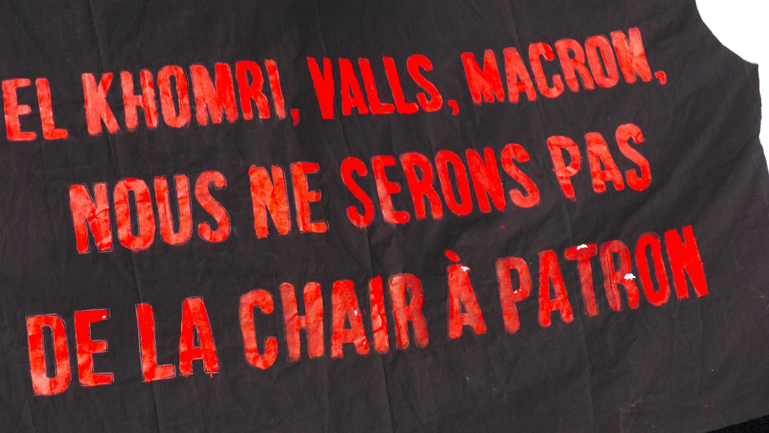 «El Khomri, Valls, Macron. Nous ne serons pas de la chair à patron.»
