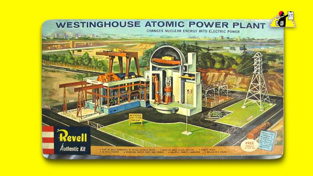 Kit pour construire une centrale nucléaire Westinghouse soi-même (maquette éditée par Revell, 1959)