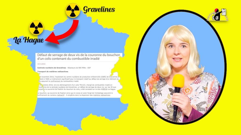 « Un convoi nucléaire a voyagé sans souci de Gravelines à La Hague, bien qu'un de ses colis ait eu le bouchon imparfaitement fermé »
